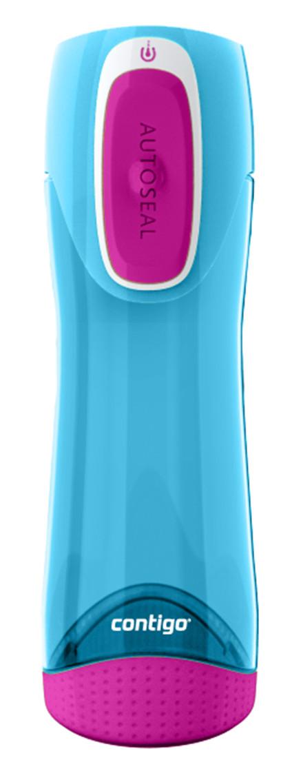 Láhev Contigo Swish 460 ml. Barva: Azurová / Růžová