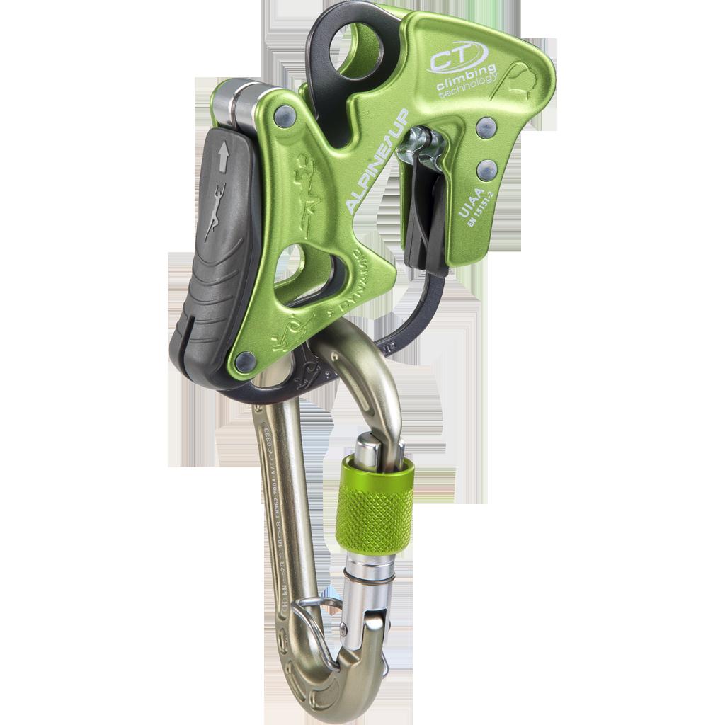 Brzda Climbing Technology Alpine-Up + ZDARMA expres set Lime Set NY 12 cm Silver Climbing Technology Barva: Green