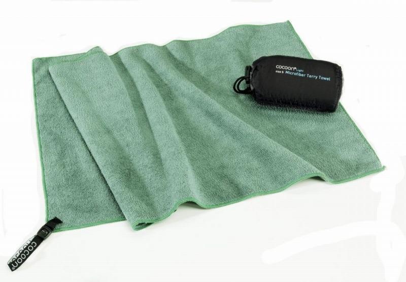 Cocoon lehký cestovní ručník L bamboo green