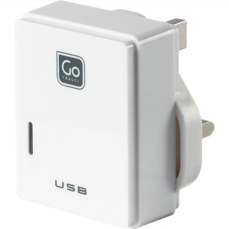 Go Travel USB nabíječka s mikro USB a konektorem pro UK