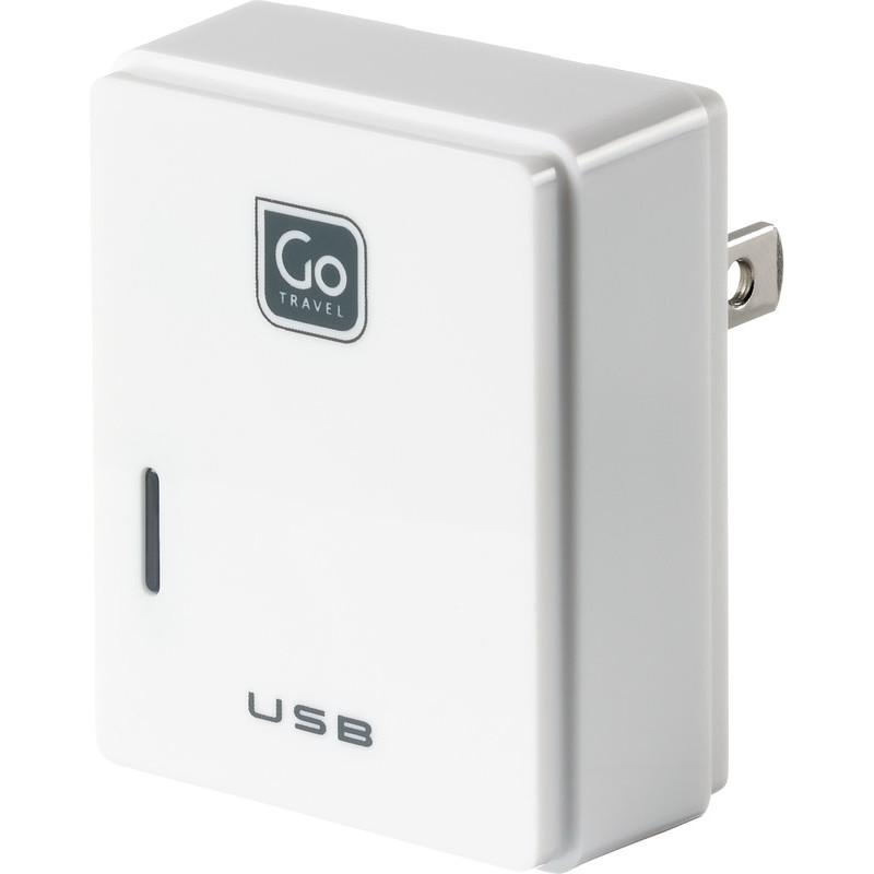 Go Travel USB nabíječka s mikro USB a konektorem pro USA