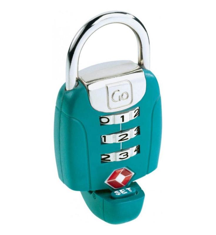 Go Travel zámek TSA Twist ´N´ Set Lock green