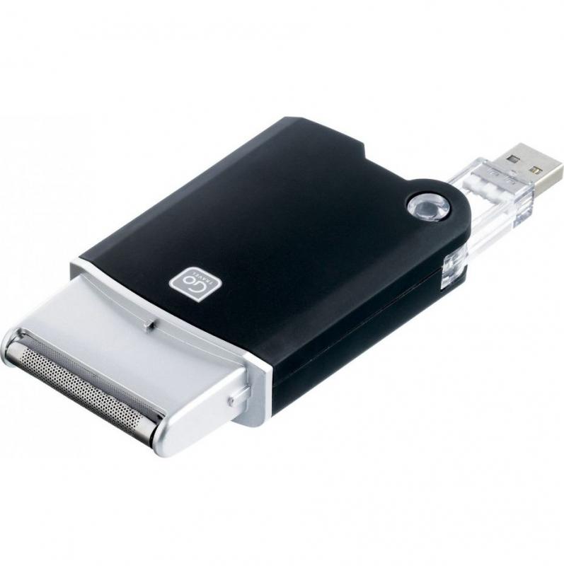 Go Travel cestovní holící strojek USB Shaver black
