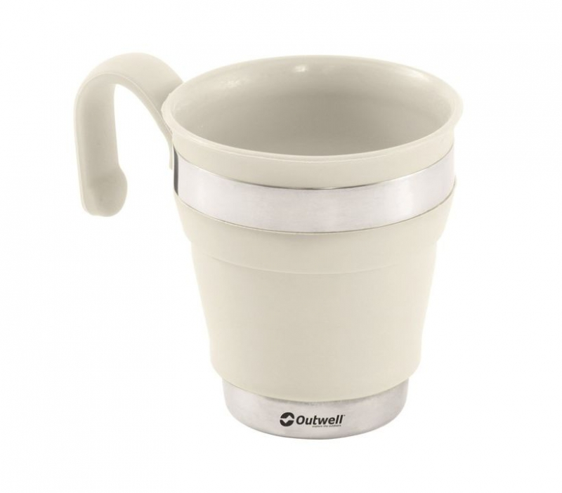Outwell skládací hrnek Collaps Mug cream white