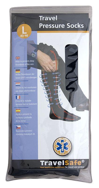 TravelSafe podkolenky Travel pressure socks L/43-46