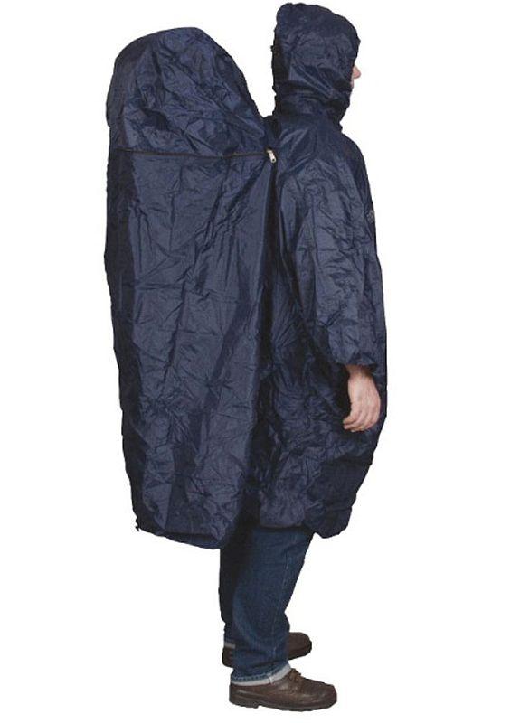 TravelSafe pláštěnka s kapsou na batoh Poncho navy S/M