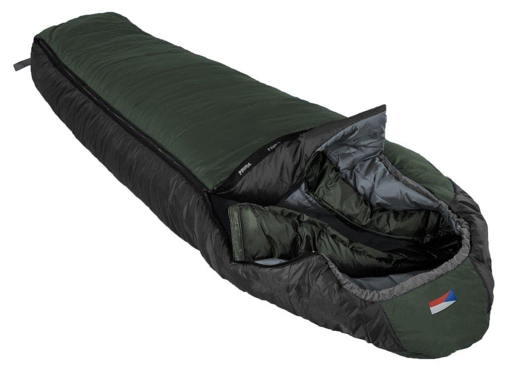 Spacák Prima Everest 200 + DÁREK čelovka Petzl Tikkina Barva: Zelená, Strana zipu: Levý zip