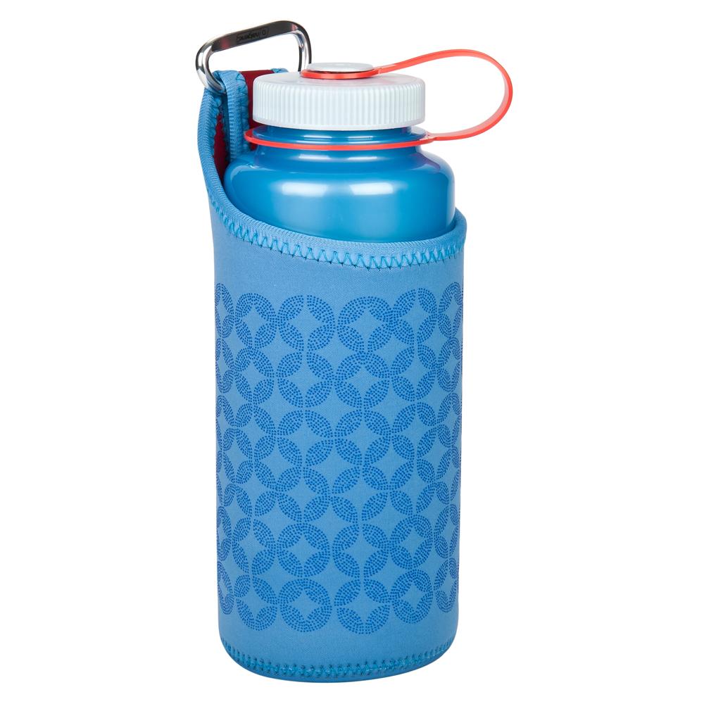 Neoprénový obal na láhev Nalgene Wide Mouth Karabina Barva: Modrá
