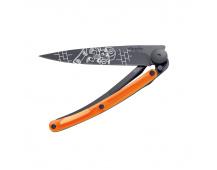 Nůž Deejo Street Black 37 g  Skate - Orange