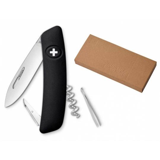 Swiza švýcarský kapesní nůž D01 black dárkové balení