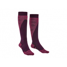 Ponožky Bridgedale Ski Midweight+ Women's Plum / Berry