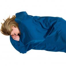 Lifeventure Polycotton Sleeping Bag Liner; navy; rectangular