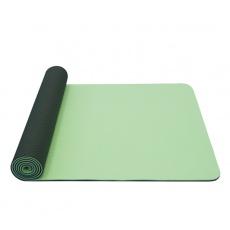 Yate Yoga Mat Dvouvrstvá  TPE 6 mm sv. zelená/tm. zelená