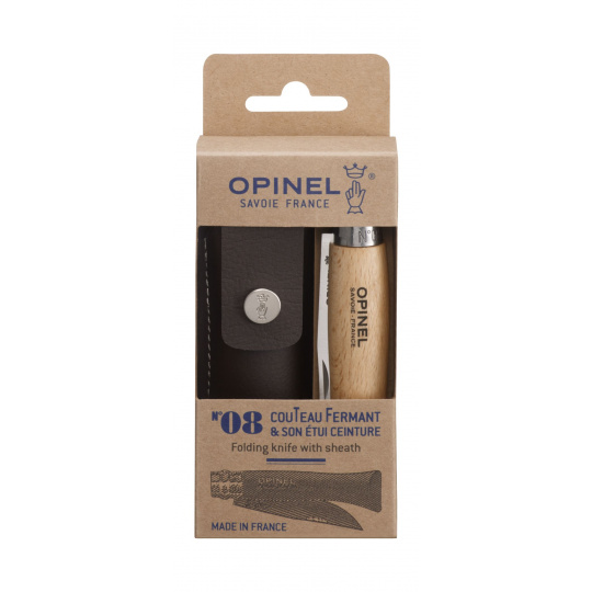 Set Nůž Opinel VR N°08 Inox + pouzdro