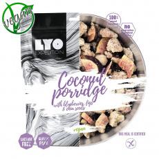 Kokosová Ovesná Kaše s Borůvkami, Fíky a Chia Semínky Lyo Food - běžná porce