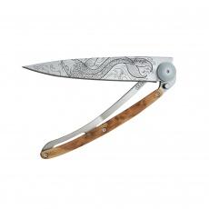 Nůž Deejo Tattoos 37 g  Fish - Juniper Wood