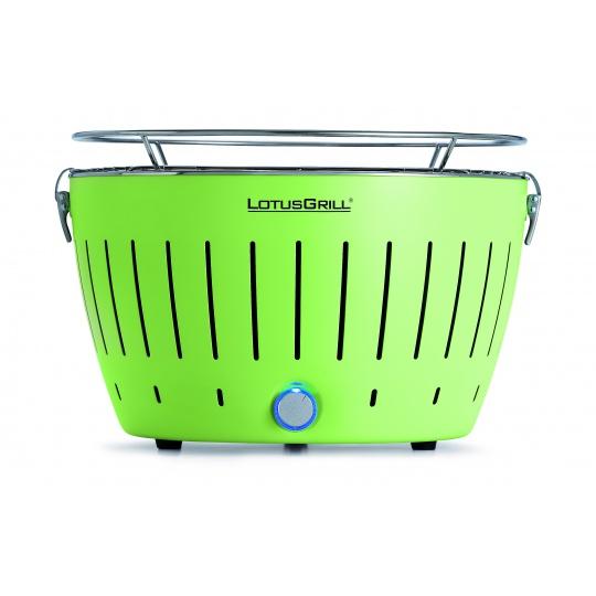 LotusGrill Lime Green + ZDARMA 1kg dřevěného uhlí LotusGrill + ZDARMA gelový podpalovač LotusGrill
