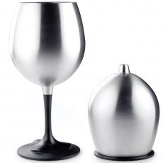 Nerezová skládací sklenka na víno GSI Outdoors Glacier Stainless Nesting Red  Wine Glass