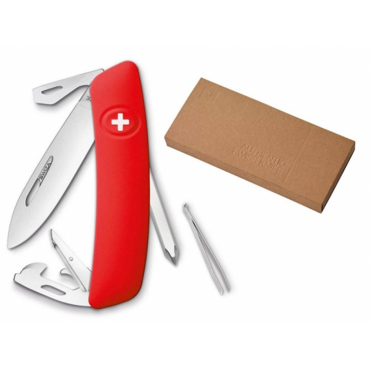 Swiza švýcarský kapesní nůž D04 red dárkové balení