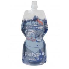 Platypus SOFTBOTTLE 1,0L Arroyo Push-Pull láhev průhledná s modrošedým motivem