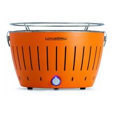 LotusGrill Mandarine Orange + ZDARMA 1kg dřevěného uhlí LotusGrill + ZDARMA gelový podpalovač LotusGrill