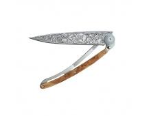 Nůž Deejo Tattoos 37 g  Art Nouveau - Juniper wood