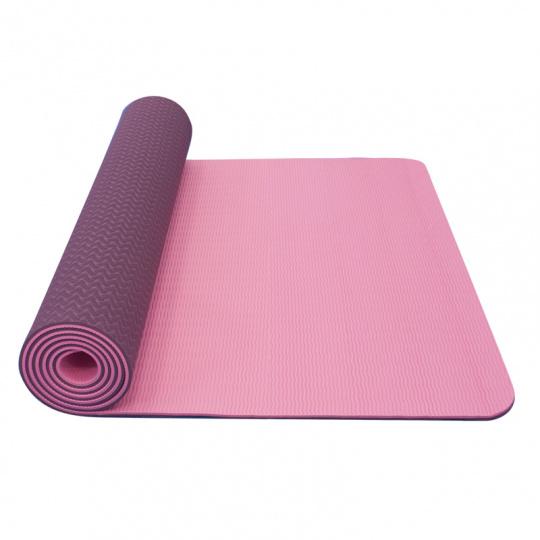 Yate Yoga Mat Dvouvrstvá TPE 6 mm růžová/fialová