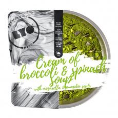 Krémová Brokolicová Polévka se Špenátem, Mozzarellou a Dýňovými Semínky Lyo Food