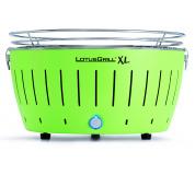 LotusGrill XL Lime Green + ZDARMA 1kg dřevěného uhlí LotusGrill + ZDARMA gelový podpalovač LotusGrill + ZDARMA grilovací kleště LotusGrill