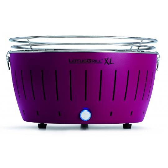 LotusGrill XL Plum Purple + ZDARMA 1kg dřevěného uhlí LotusGrill + ZDARMA gelový podpalovač LotusGrill + ZDARMA grilovací kleště LotusGrill