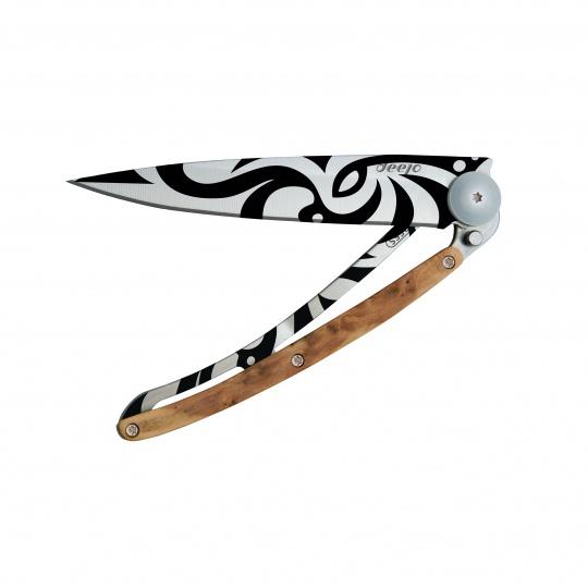 Nůž Deejo Tattoos 37 g  Tribal - Juniper Wood